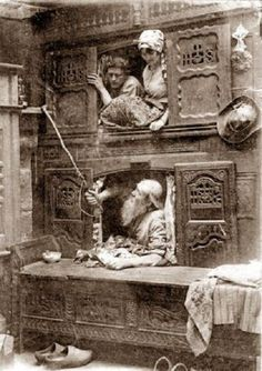 Box beds, Brittany France, early 1900s