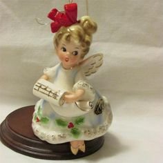 Vintage Christmas Josef Originals Ceramic Angel Bell Ornament Japan 1950'S | eBay