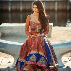 Gorgeous! version of a traditional Indian Rajastani outfit (authentic colors and design)
