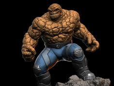 "ArtStation - Ben Grimm ""The Thing"", Earl Vincent Kasilag Fantastic Four Comics, Spiderman, Batman, Marvel Art, Grimm, Iron Man, Action Figures, Scale, Artwork"