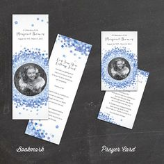 ForgetMeNot Prayer Card for Memorials  by FoxDigitalDesign on Etsy, $20.00