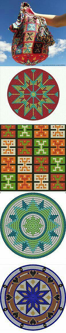 Tapestry Crocheted ~ Wayuu Mochila bag