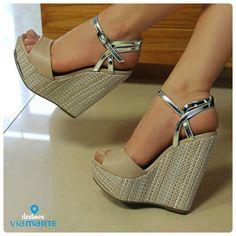sandália anabela - salto alto - heels - Ref. 14-13602 - Verão 2015