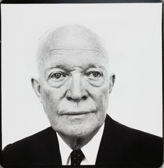 In honor of Presidents' Day, a solemn portrait of Dwight Eisenhower by Richard Avedon. Dwight David Eisenhower, President of the United States, Palm Springs, California.