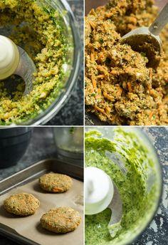 moroccanyamveggieburgers   Moroccan Yam Veggie Burgers with Cilantro Lime Tahini Sauce