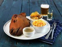 The Norwegian dish, smalahove, is a smoked sheep's head served with rutabaga. Food From Different Countries, Norwegian Food, Norwegian Recipes, Unique Recipes, Christmas Traditions, Street Food, Norway, Meme, Stuffed Peppers