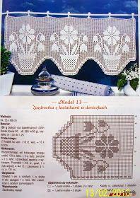 filet curtain by celeste Filet Crochet Charts, Crochet Borders, Crochet Cross, Thread Crochet, Crochet Motif, Crochet Doilies, Knit Crochet, Crochet Patterns, Crochet Curtain Pattern