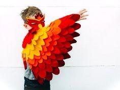 Pájaro de fuego para niños traje traje de Phoenix por BHBKidstyle