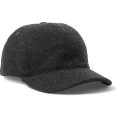 f8c54f820fa A.P.C. Wool-Blend Baseball Cap (160 CAD) ❤ liked on Polyvore featuring mens
