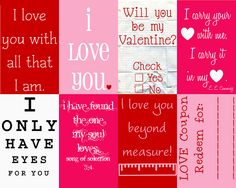 Valentine's Messages {Printables}