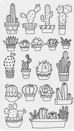 Doodle art 712061391074936985 - Bullet journal doodles Doodle drawings Cactuses doodle Gri Source by Bullet Journal Ideas Pages, Bullet Journal Inspiration, Bullet Journal Decoration, Doodle Drawings, Easy Drawings, Tattoo Drawings, Doodle Illustrations, Flower Drawings, Zentangle Drawings