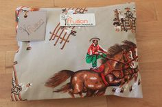 Vintage western cowboy rodeo fabric by Fruitionbyjennifield