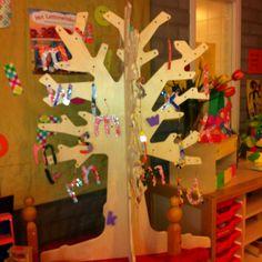 Een letterboom op de kijktafel. Classroom Tree, Letter School, To My Daughter, Presents, Teaching, Kids, Art, Dyslexia, Toddlers