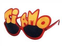 F-015 Fun Party Brille Form: Ti Amo Farbe: rot