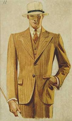 I've been reading up on the history of men's suiting and was reminded of the Arrow Collar Man made famous by illustrator JC Leyendecker. This man knew style.