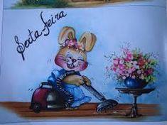 Resultado de imagen para de lindas conejitas para pintar en tela