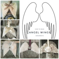 Cricut Christmas Ideas, Personalized Christmas Ornaments, Diy Christmas Ornaments, Christmas Decorations To Make, Christmas Angels, Diy Crafts For Gifts, Holiday Crafts, Diy Angel Wings, Angel Theme