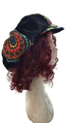 APPLE CAP newsboy hat cap festival hat dread hat slouchy Hippie Hats 467281f7d7d3