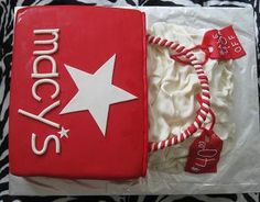 Shopping at the mall - macy's, coupon Cakes by piece-a-cake.com