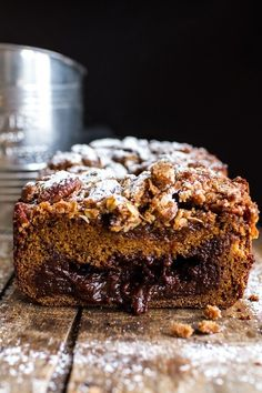 Looking for a delicious, chocolatey twist on plain old pumpkin bread? Try this Molten Chocolate Pumpkin Streusel Bread from halfbakedharvest.com. Pumpkin Bread, Pumpkin Spice, Pumpkin Oatmeal, Pumpkin Soup, Pumpkin Recipes, Fall Recipes, Molten Chocolate, Chocolate Cake, Half Baked Harvest