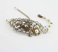 Hey, I found this really awesome Etsy listing at http://www.etsy.com/listing/89658815/bridal-bracelet-wedding-bracelet-vintage