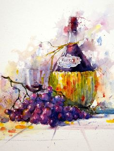 Gerard Hendriks -  Chianti met druiven hml 600gr 57x38cm