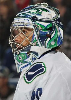 Ryan Miller #30 of the Vancouver Canucks