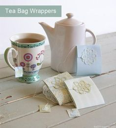 Tea Wrapper - perfect for mother's day gift!