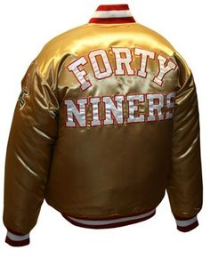 San Francisco 49ers GOLD Satin Jacket - NFL Football Team Apparel -  New Nfl Sports Gear (San Francisco 49ers GOLD Satin Jacket - NFL Football Team Apparel) has been published on NFLShop4U. Visit our NFL clothing store to buy online - http://nflshop4u.com/shop/san-francisco-49ers-gold-satin-jacket-nfl-football-team-apparel/
