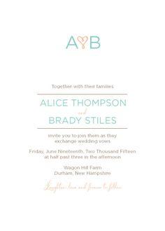 Wedding Invitations - Heart Monogram