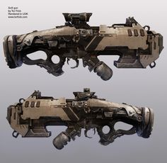 Old scifi rifle that I made, based on some doodles by Axel Torvenius, which i then frankensteined together into this. Sci Fi Weapons, Weapon Concept Art, Fantasy Weapons, Weapons Guns, Guns And Ammo, Sci Fi Fantasy, Vikings, Future Weapons, Cg Art