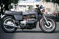 Honda made this prototype of the Goldwing back in 1972. Note the six cylinder engine!