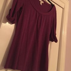Pretty Purple Blous The most flattering shirt in the world could be yours. Wear the prettiest shade of purple with this anytime-wear shirt. LOFT Tops Blouses