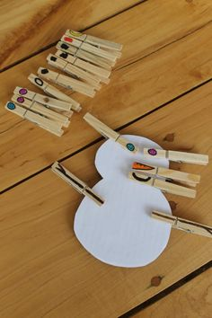 how we learn, how wee learn - clothespin snowman