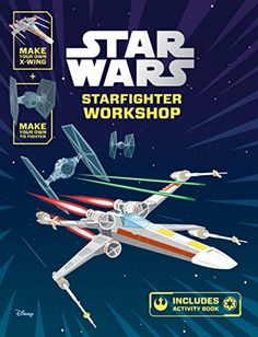 Star Wars Starfighter Workshop: Make Your Own X-wing and Tie Fighter:   Luke and Obi-Wan set out on a mission to Alderaan to rescue Princess Leia. On the way they encounter new friends, old enemies and no small amount of danger!   Complete mazes, codewords and puzzles in the uniquely illustrated, full colour activity book. Then press out the pieces to create your very own X-Wing and TIE fighter models, perfect for recreating the famous Trench Run scene from Star Wars Episode IV: A New Hope.