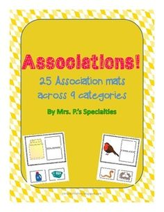 Help students learn what goes together and work to be able to explain why. Included are ideas on different ways to use the cards to challenge students to be flexible in their thinking and language.  $2.50 #Language #Associations #Autism #Speech