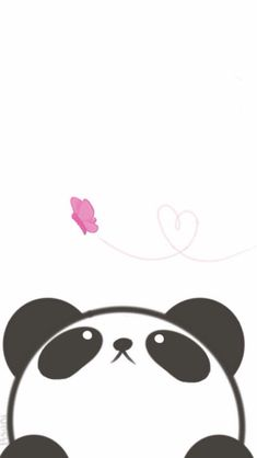 Panda, butterfly, cute, adorable, phone wallpaper, phone background Panda Panda, Hello Kitty, Filofax, Snoopy, Wallpapers, Drawing Pics