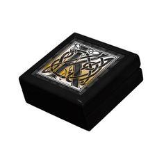 K Monogram Celtic Black Stone Decorative Box Keepsake Boxes