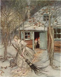 """Gerda"" (from Hans Christian Andersen's The Snow Queen) by Arthur Rackham."