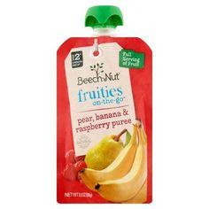 Beech-Nut Fruities On-The-Go Stage 2 Pear, Banana & Raspberry Puree, 3.5 OZ