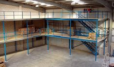 A mezzanine floor can be the best way to increase your office space without the need to move office and give you the extra office accommodation that you need. Warehouse Office, Warehouse Design, Garage Workshop, Workshop Ideas, Dream Gym, Hut House, Mezzanine Floor, Factory Design, Store Interiors