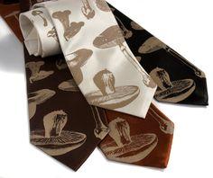 Mushroom tie. Mens necktie. Silkscreen fungus by Cyberoptix, $30.00