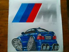 BMW car poster