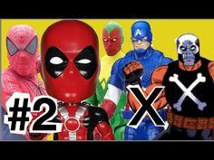 #2 Abrindo brinquedos Homem Aranha Deadpool Visão  Ossos Cruzados Capitã...