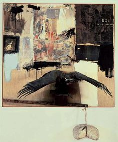 Robert Rauschenberg. Canyon. 1959. Probably my favourite painting.