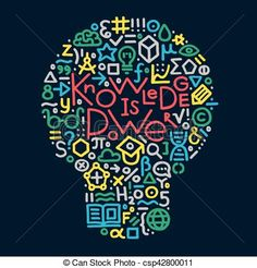 knowledge is power. design element for web, posters, banners. Modern hand drawn vector illustration with text: knowledge is power and different education and science symbols Science Symbols, Innovative Logo, Knowledge Is Power, Illustration, How To Draw Hands, Stock Photos, Drawings, Modern, Murals
