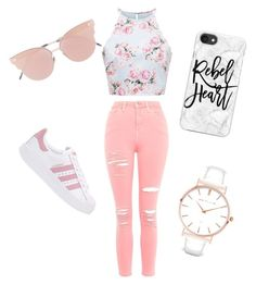 """Everyday Simple Slay"" by g217khan on Polyvore featuring Topshop, adidas Originals, Casetify, So.Ya and Abbott Lyon"