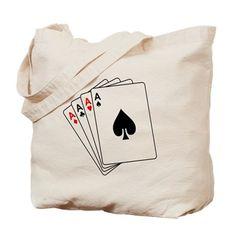 Aces Canvas Tote Bag