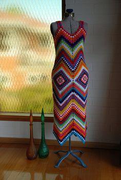 Crochet Dress - Glam Granny Maxi