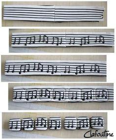 polymer clay music bracelet